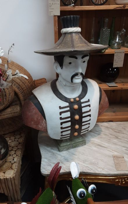 Marble bust of Traditional  Thai man
